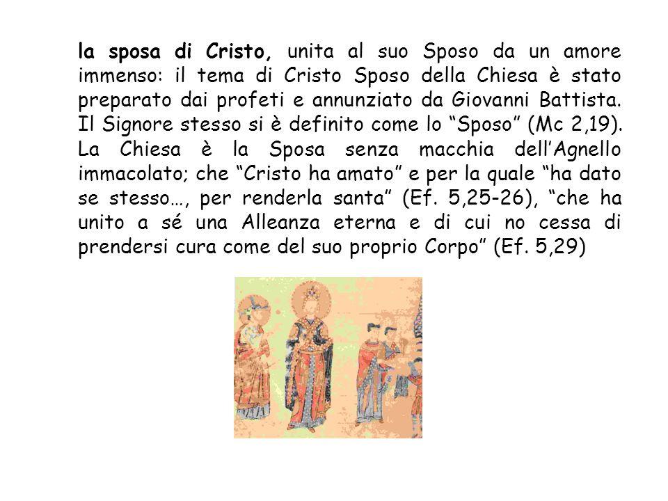 il corpo di Cristo: San Paolo, per spiegare la realtà della Chiesa, usa limmagine del corpo umano e delle sue membra. Il corpo, pur avendo molte membr