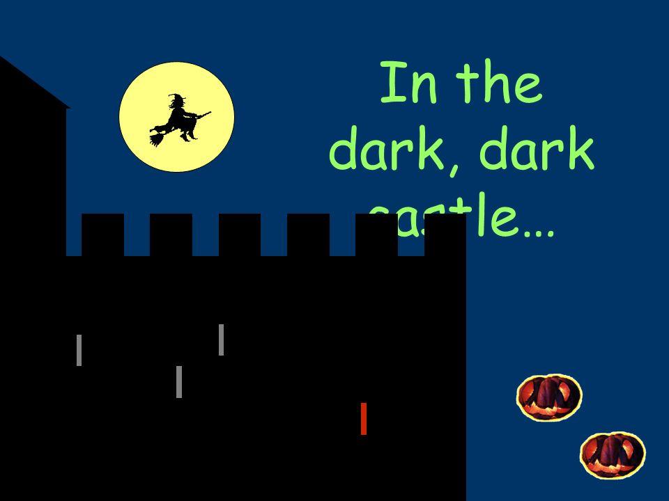 In the dark, dark town, theres a dark, dark park in the dark, dark park, theres a PUMPKIN .