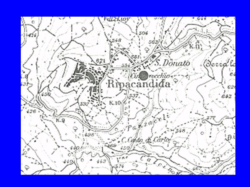 NECROPOLI DI RIPACANDIDA La necropoli si estende sul pendio della collina di San Donato ai limiti dellabitato moderno ed in parte costeggia la via R.