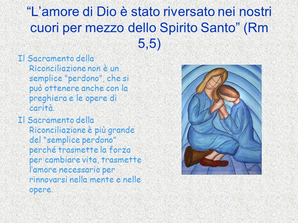 Lamore di Dio è stato riversato nei nostri cuori per mezzo dello Spirito Santo (Rm 5,5) Il Sacramento della Riconciliazione non è un semplice perdono,