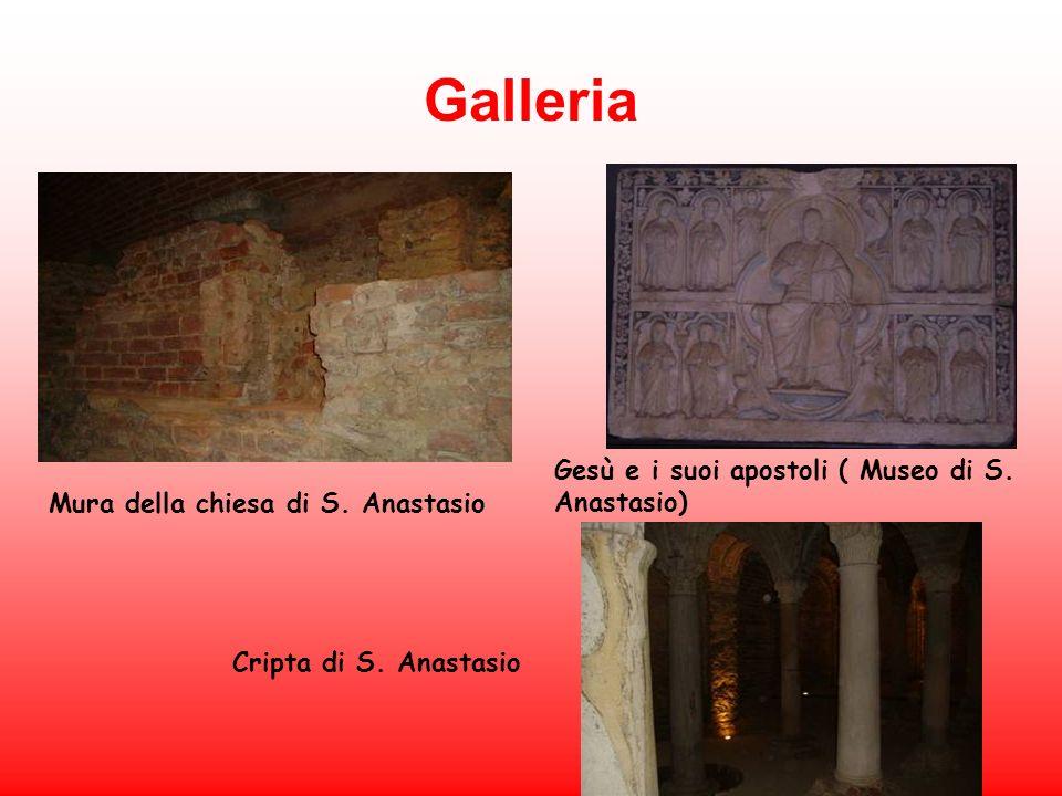 Galleria Mura della chiesa di S. Anastasio Cripta di S. Anastasio Gesù e i suoi apostoli ( Museo di S. Anastasio)