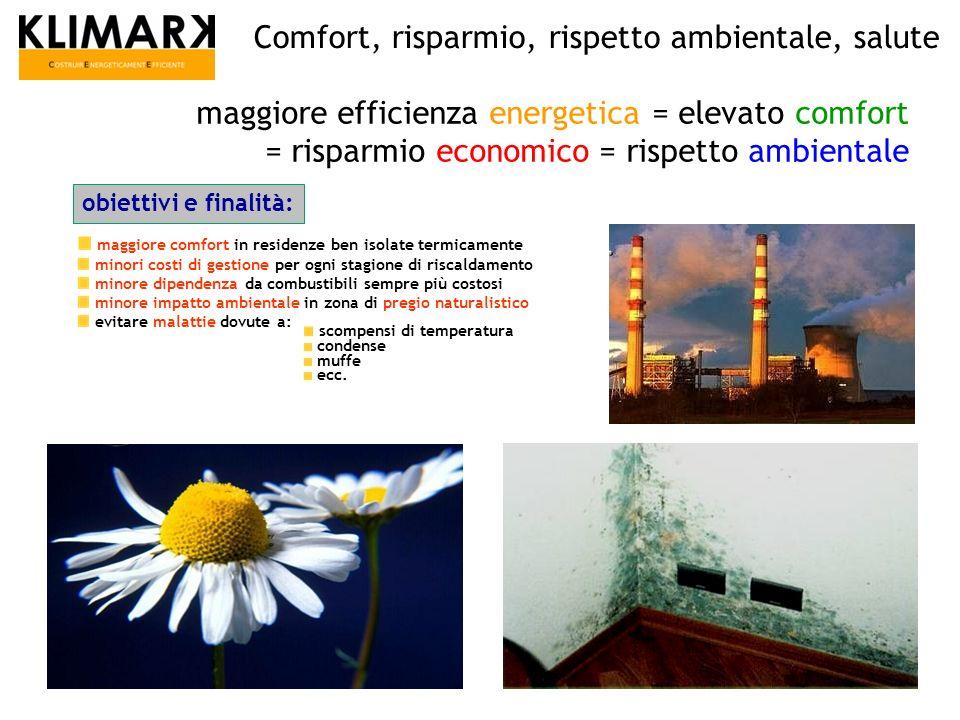 maggiore efficienza energetica = elevato comfort = risparmio economico = rispetto ambientale maggiore comfort in residenze ben isolate termicamente mi