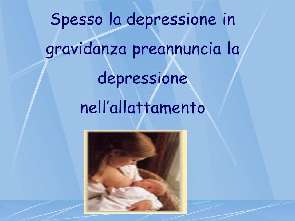 Spesso la depressione in gravidanza preannuncia la depressione nellallattamento