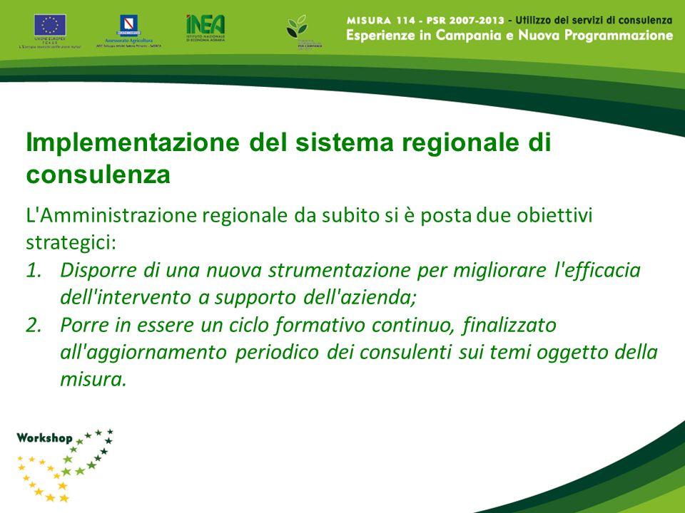 L'Amministrazione regionale da subito si è posta due obiettivi strategici: 1.Disporre di una nuova strumentazione per migliorare l'efficacia dell'inte
