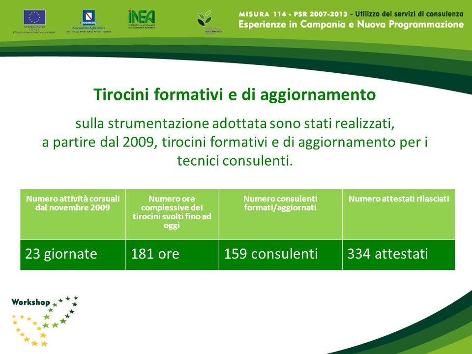 Tirocini formativi e di aggiornamento sulla strumentazione adottata sono stati realizzati, a partire dal 2009, tirocini formativi e di aggiornamento p