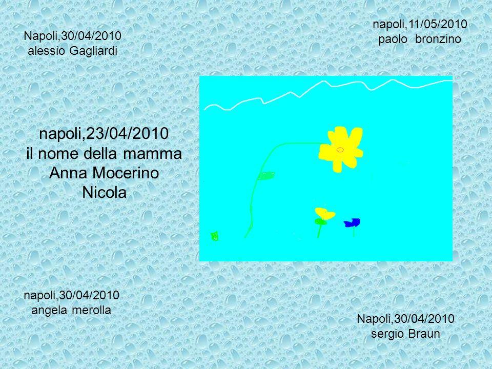 Napoli,30/04/2010 alessio Gagliardi napoli,30/04/2010 angela merolla Napoli,30/04/2010 sergio Braun napoli,11/05/2010 paolo bronzino napoli,23/04/2010