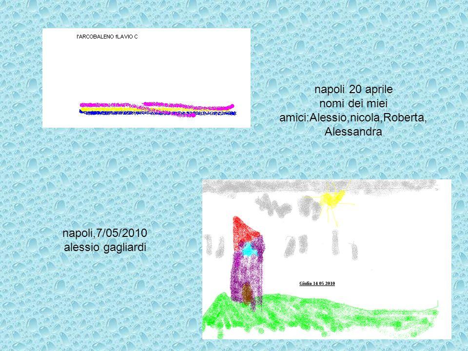 napoli,7/05/2010 alessio gagliardi napoli 20 aprile nomi dei miei amici:Alessio,nicola,Roberta, Alessandra