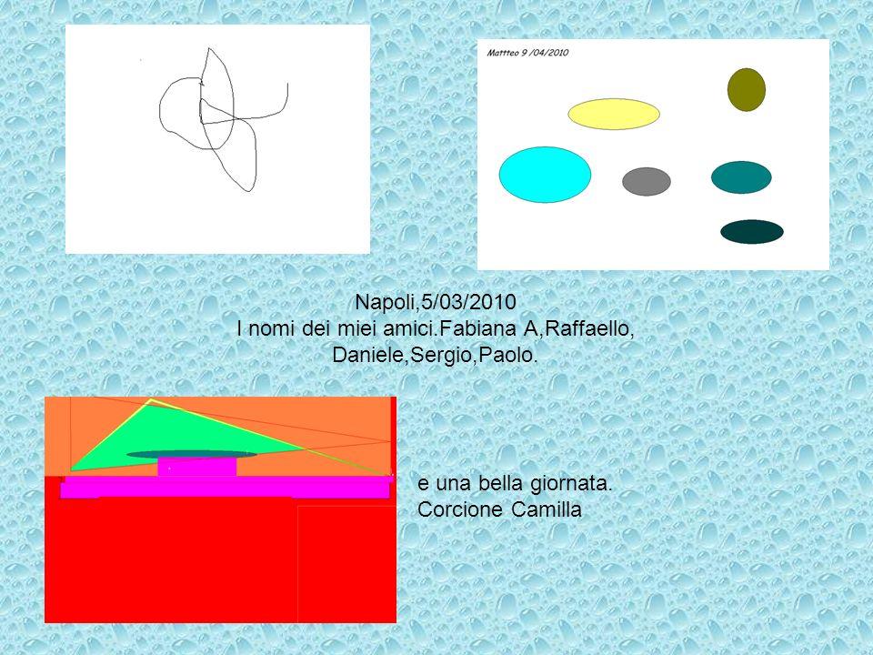 Napoli,5/03/2010 I nomi dei miei amici.Fabiana A,Raffaello, Daniele,Sergio,Paolo. e una bella giornata. Corcione Camilla