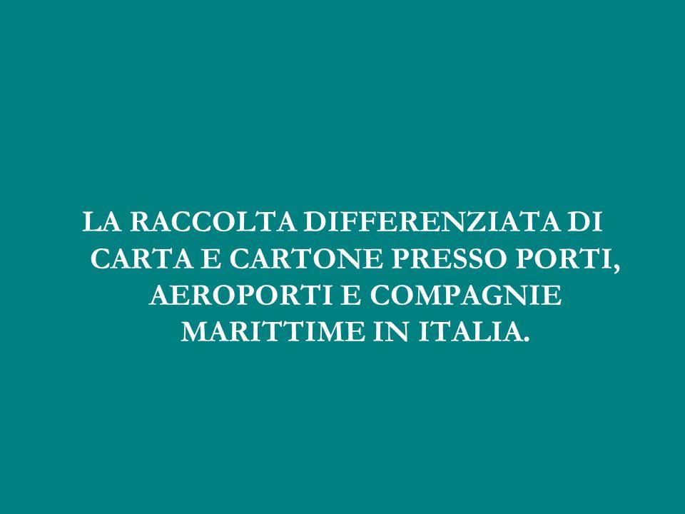 LA RACCOLTA DIFFERENZIATA DI CARTA E CARTONE PRESSO PORTI, AEROPORTI E COMPAGNIE MARITTIME IN ITALIA.