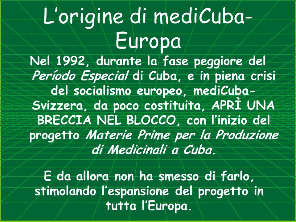 Lorigine di mediCuba- Europa Nel 1992, durante la fase peggiore del Período Especial di Cuba, e in piena crisi del socialismo europeo, mediCuba- Svizz