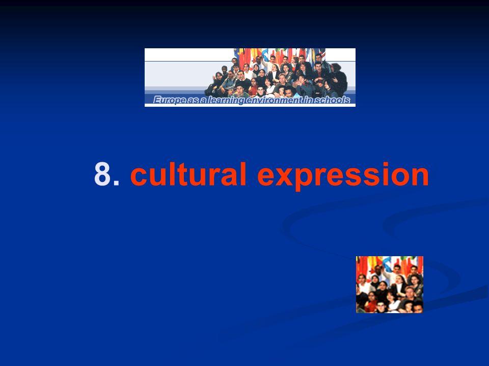 8. cultural expression