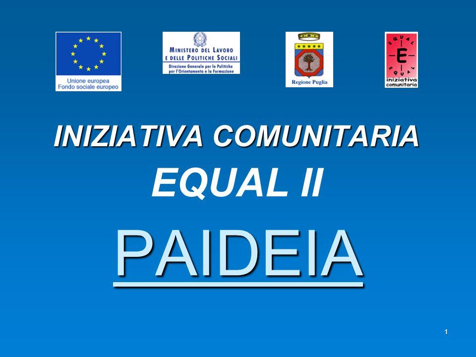 1 PAIDEIA INIZIATIVA COMUNITARIA EQUAL II