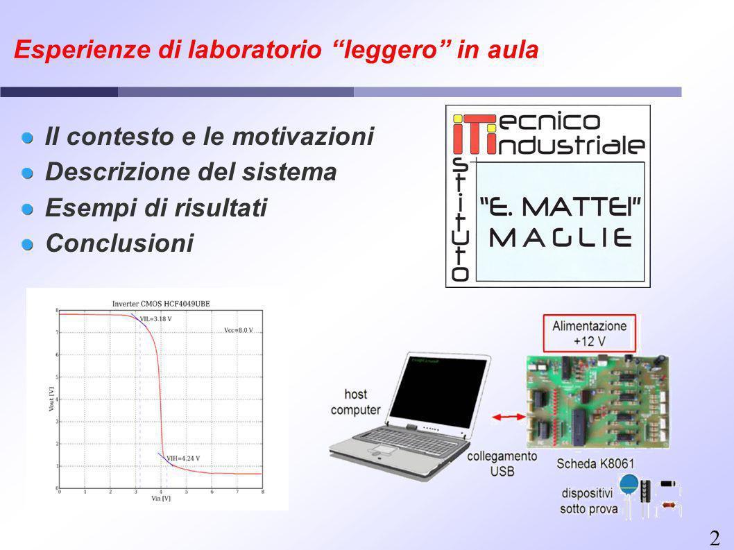 2 Il contesto e le motivazioni Descrizione del sistema Esempi di risultati Conclusioni