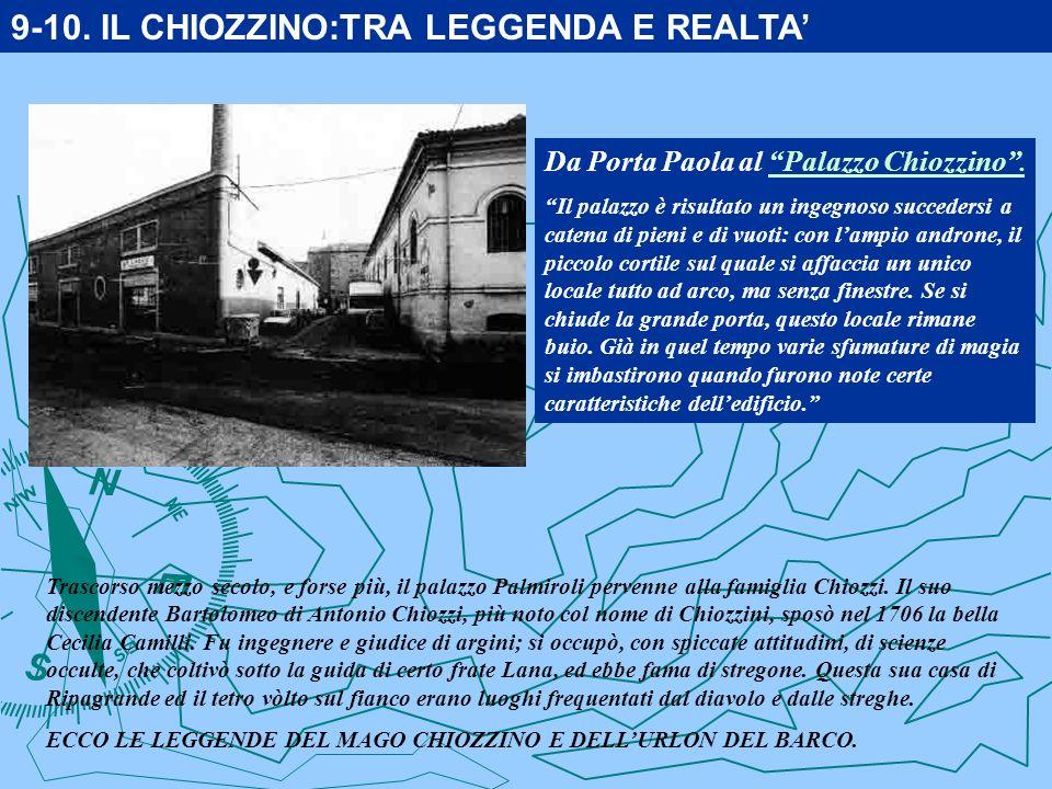 Da Porta Paola al Palazzo Chiozzino.Palazzo Chiozzino.