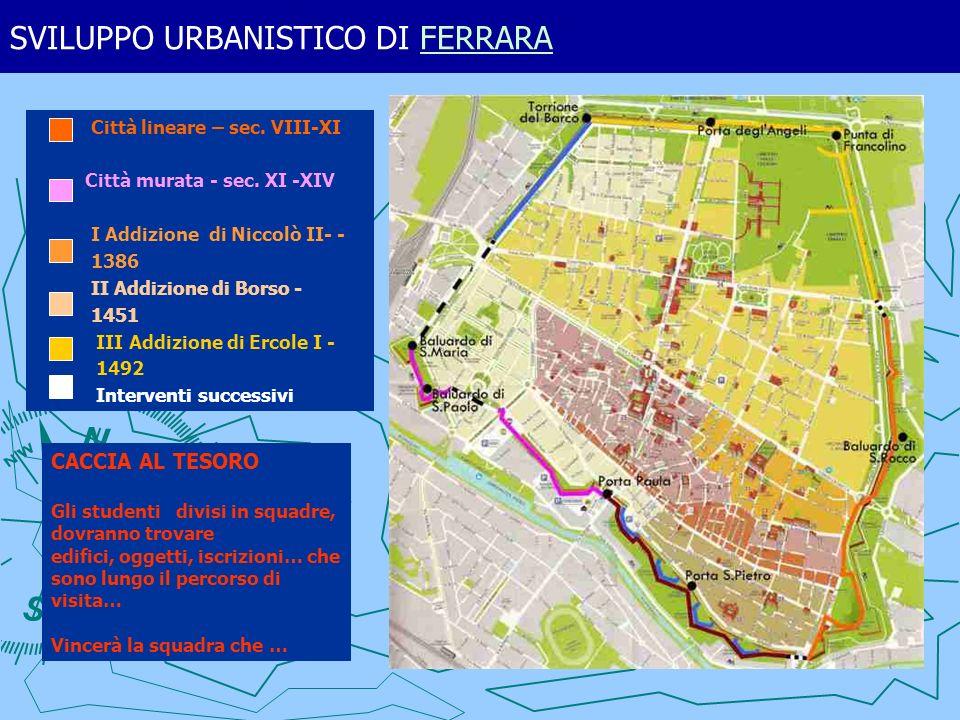 SVILUPPO URBANISTICO DI FERRARAFERRARA e mura di Borso.