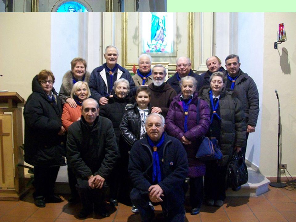 Ci siamo recati nel vicino comune di Castignano, per raggiungere il monastero di S. Bernardino, assistere alla Messa, celebrata da padre Ambrogio, già