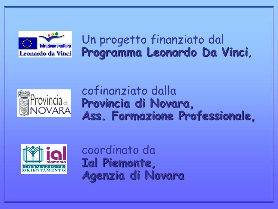 Programma Leonardo Da Vinci Provincia di Novara, Ass.