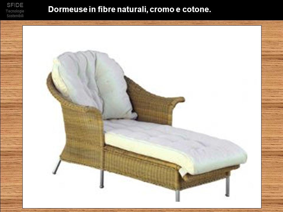 SFIDE Tecnologie Sostenibili Dormeuse in fibre naturali, cromo e cotone.