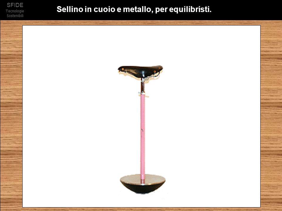 SFIDE Tecnologie Sostenibili Sellino in cuoio e metallo, per equilibristi.