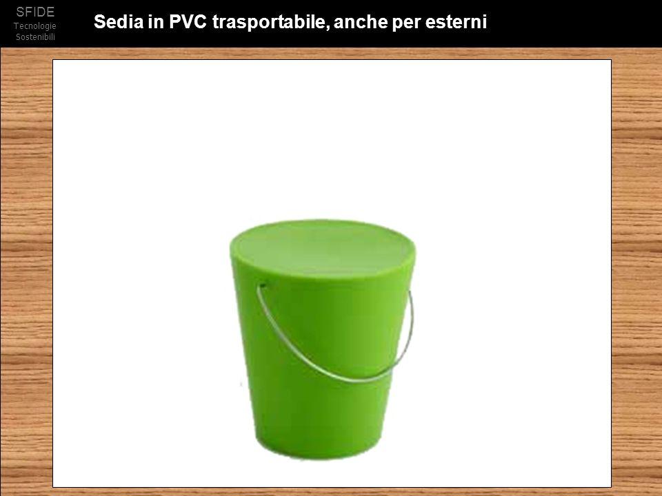 SFIDE Tecnologie Sostenibili Sedia in PVC trasportabile, anche per esterni