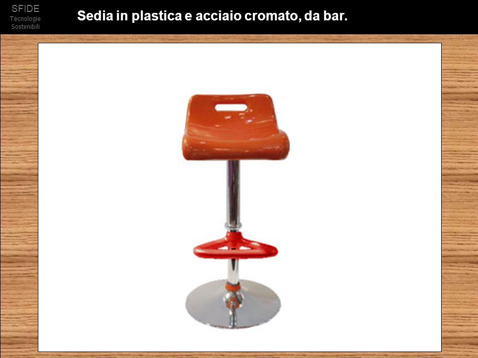SFIDE Tecnologie Sostenibili Sedia in plastica e acciaio cromato, da bar.