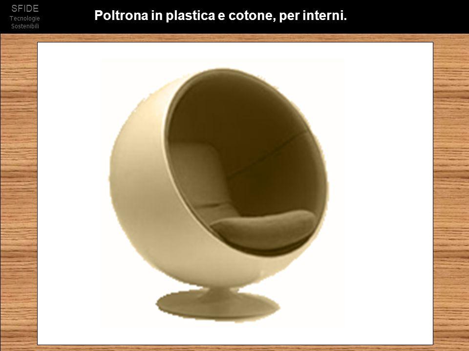 SFIDE Tecnologie Sostenibili Poltrona in plastica e cotone, per interni.