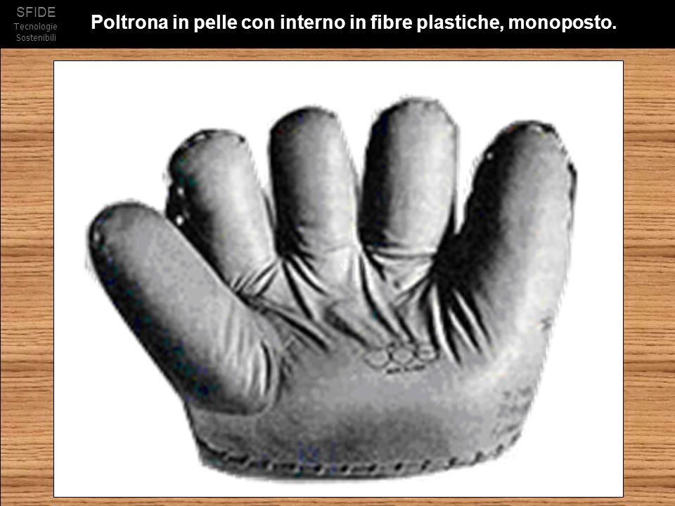 SFIDE Tecnologie Sostenibili Poltrona in pelle con interno in fibre plastiche, monoposto.