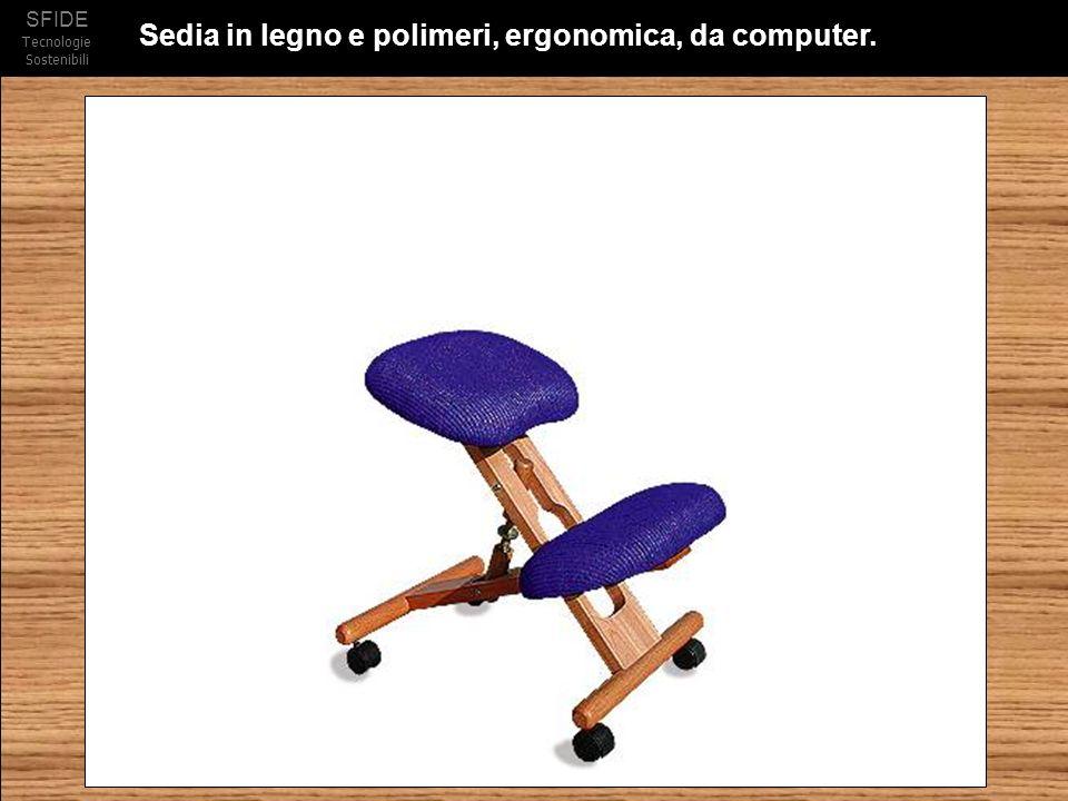 SFIDE Tecnologie Sostenibili Sedia in legno e polimeri, ergonomica, da computer.