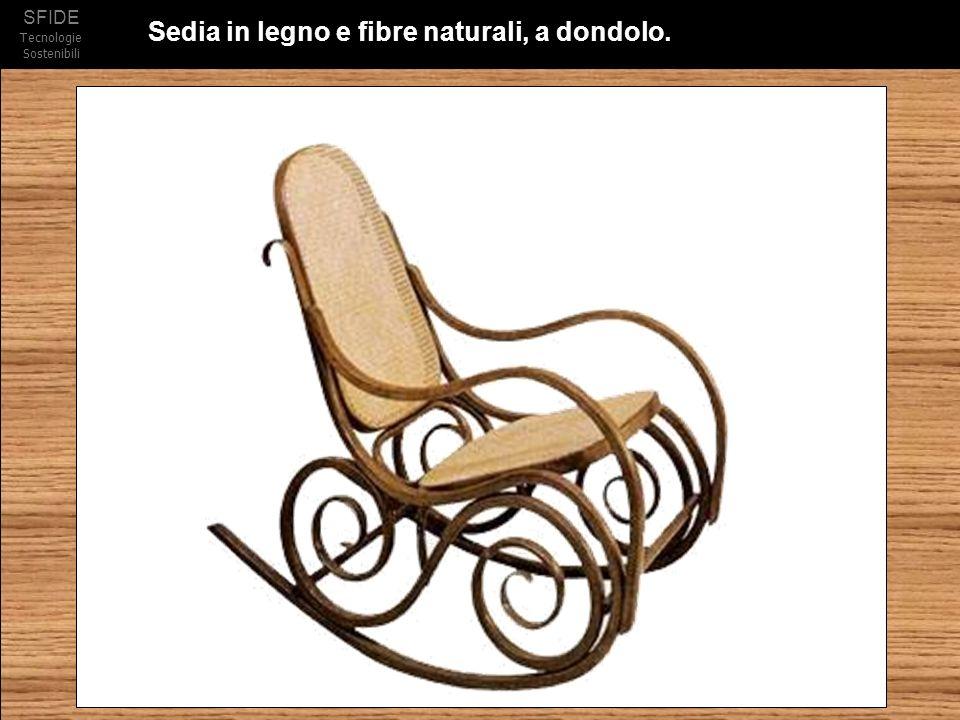 SFIDE Tecnologie Sostenibili Sedia in legno e fibre naturali, a dondolo.