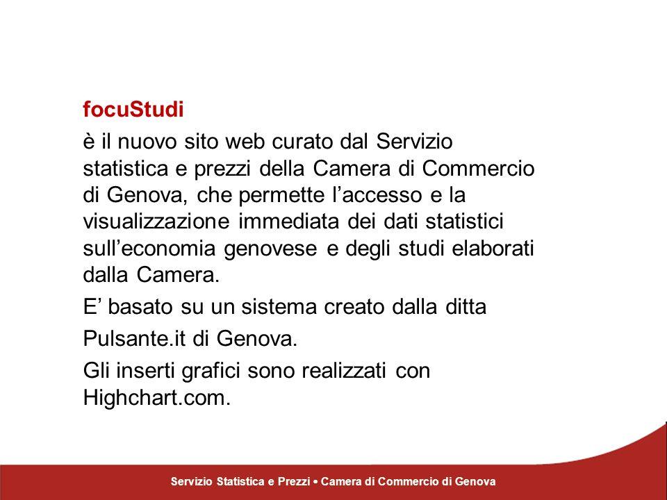 focuStudi È uniniziativa della Camera di Commercio di Genova per la diffusione della cultura dimpresa.