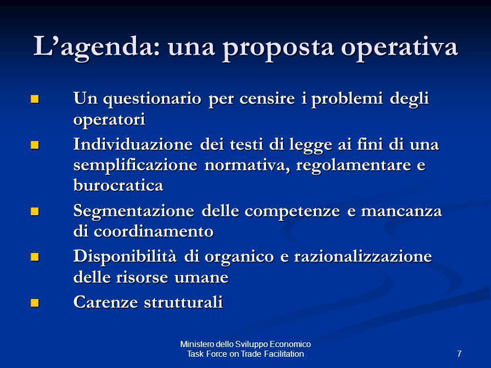 Lagenda: una proposta operativa Un questionario per censire i problemi degli operatori Un questionario per censire i problemi degli operatori Individu