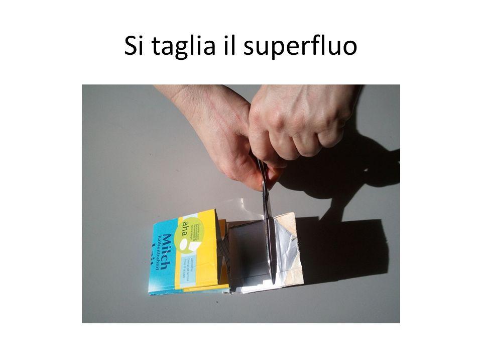 Si taglia il superfluo