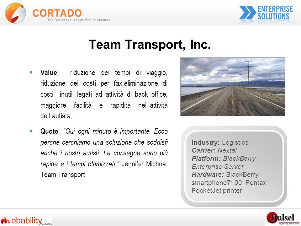 Team Transport, Inc.