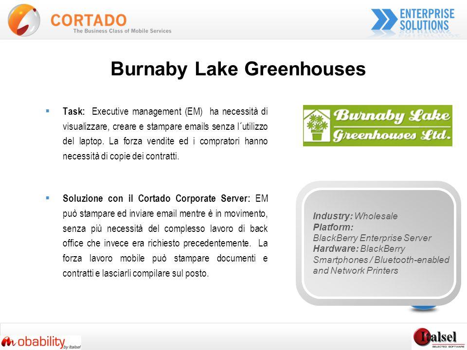 Burnaby Lake Greenhouses Task: Executive management (EM) ha necessità di visualizzare, creare e stampare emails senza l´utilizzo del laptop.