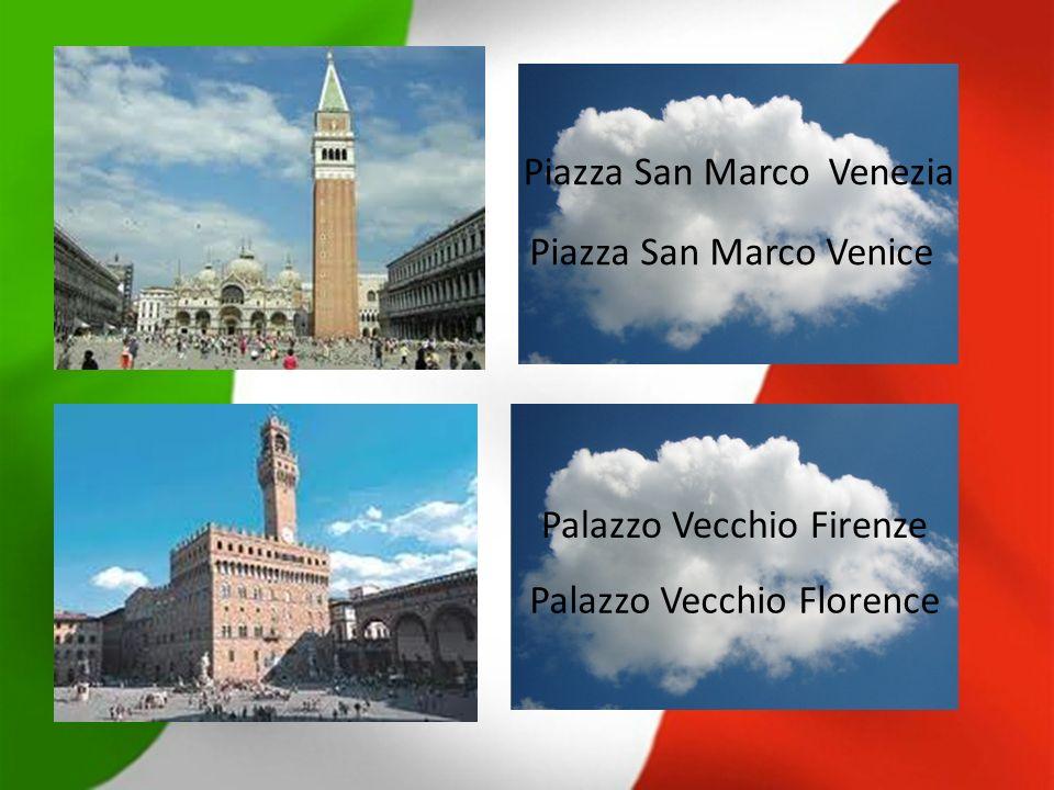 Palazzo Vecchio Firenze Piazza San Marco Venezia Piazza San Marco Venice Palazzo Vecchio Florence