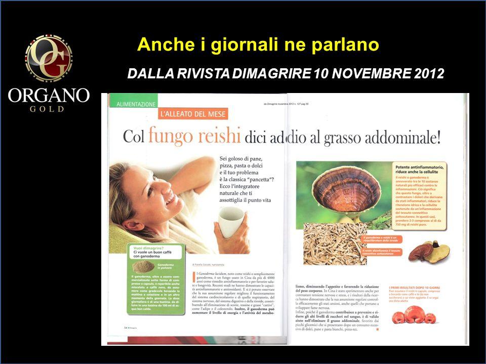 DA wellness DONNA MODERNA OTTOBRE 2012 Anche i giornali ne parlano