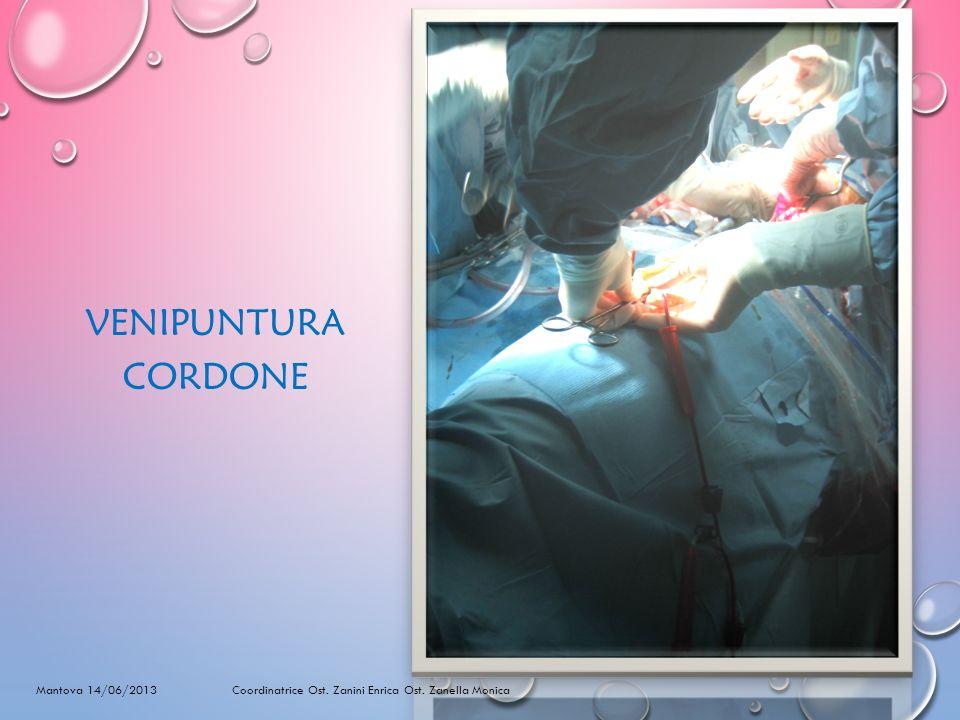 VENIPUNTURA CORDONE Mantova 14/06/2013 Coordinatrice Ost. Zanini Enrica Ost. Zanella Monica