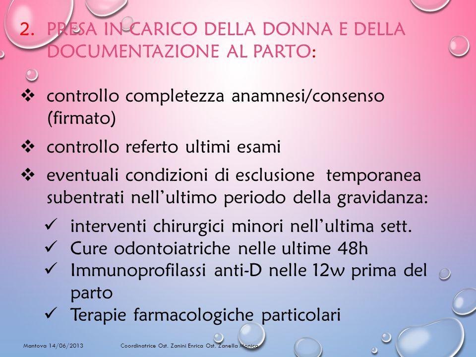 RIEMPIMENTO DELLA SACCA Mantova 14/06/2013 Coordinatrice Ost. Zanini Enrica Ost. Zanella Monica