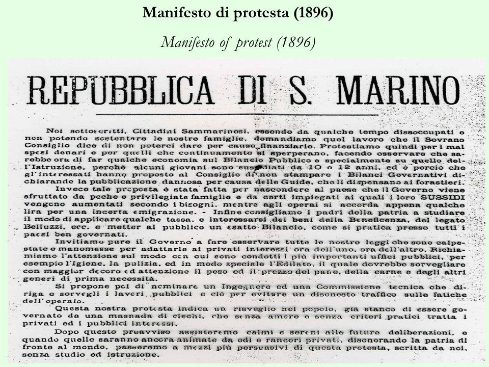 Manifesto di protesta (1896) Manifesto of protest (1896)