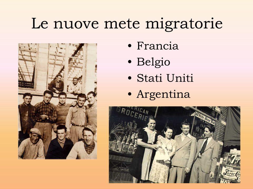 Le nuove mete migratorie Francia Belgio Stati Uniti Argentina