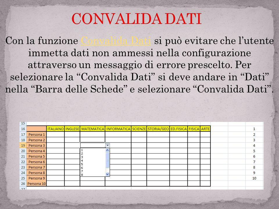 Con le funzioni: 1) Nuova Regola 2) Cancella Regola(esempio) 3) Gestisci Regola è possibile avere una gestione della formattazione condizionale che pe