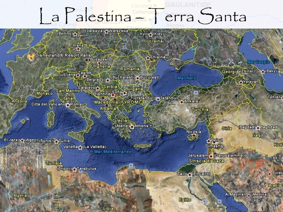 Palestina (= Terra dei Filistei) è la denominazione romana della provincia che risale all epoca dell imperatore Adriano, nel 135 d.C., quando il nome ufficiale Syria Palaestina sostituì il precedente Iudaea includendo anche altre entità amministrative: Samaria, Perea e Galilea.
