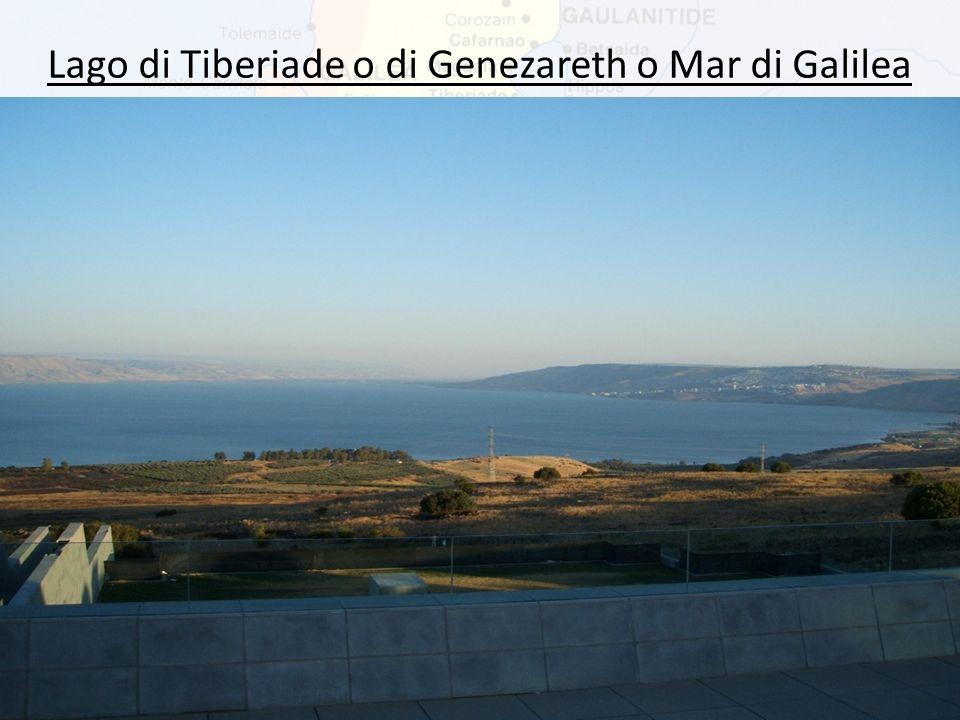 Lago di Tiberiade o di Genezareth o Mar di Galilea Il lago ha una lunghezza da nord a sud di 23 chilometri. Si trova a 209 metri sotto il livello del