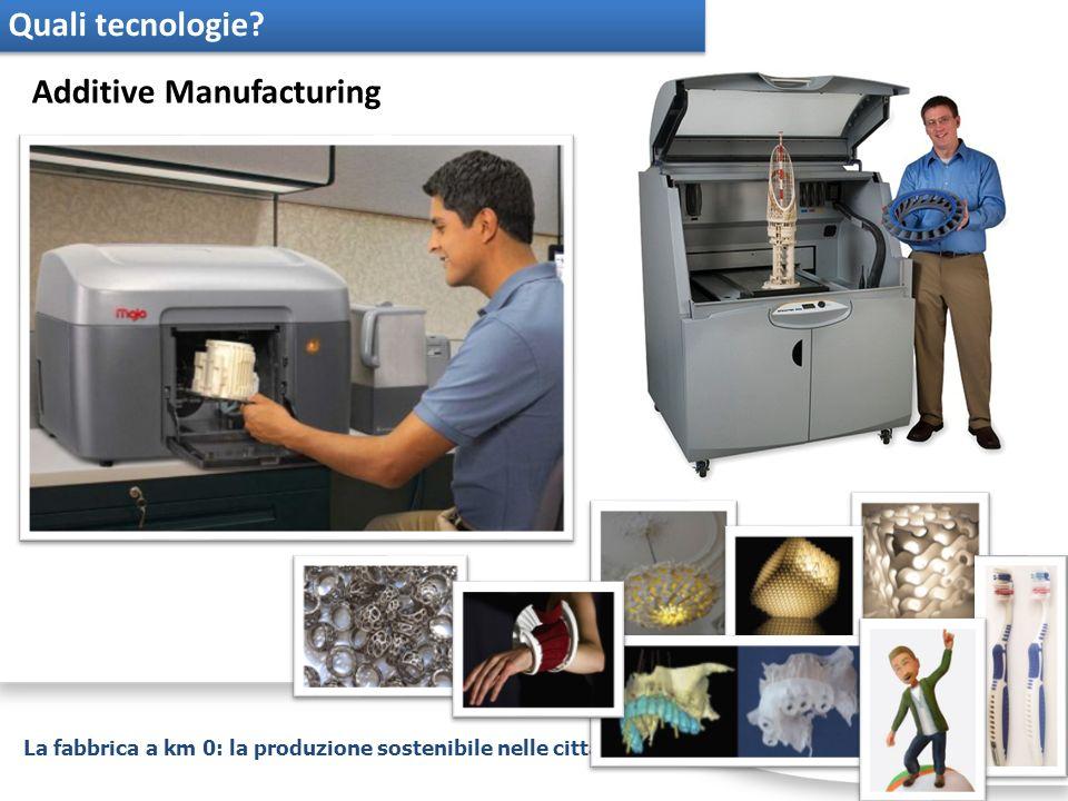 La fabbrica a km 0: la produzione sostenibile nelle città Quali tecnologie? Additive Manufacturing