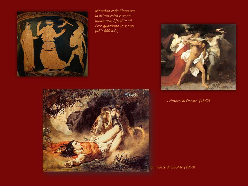 La morte di Ippolito (1860) Menelao vede Elena per la prima volta e se ne innamora.
