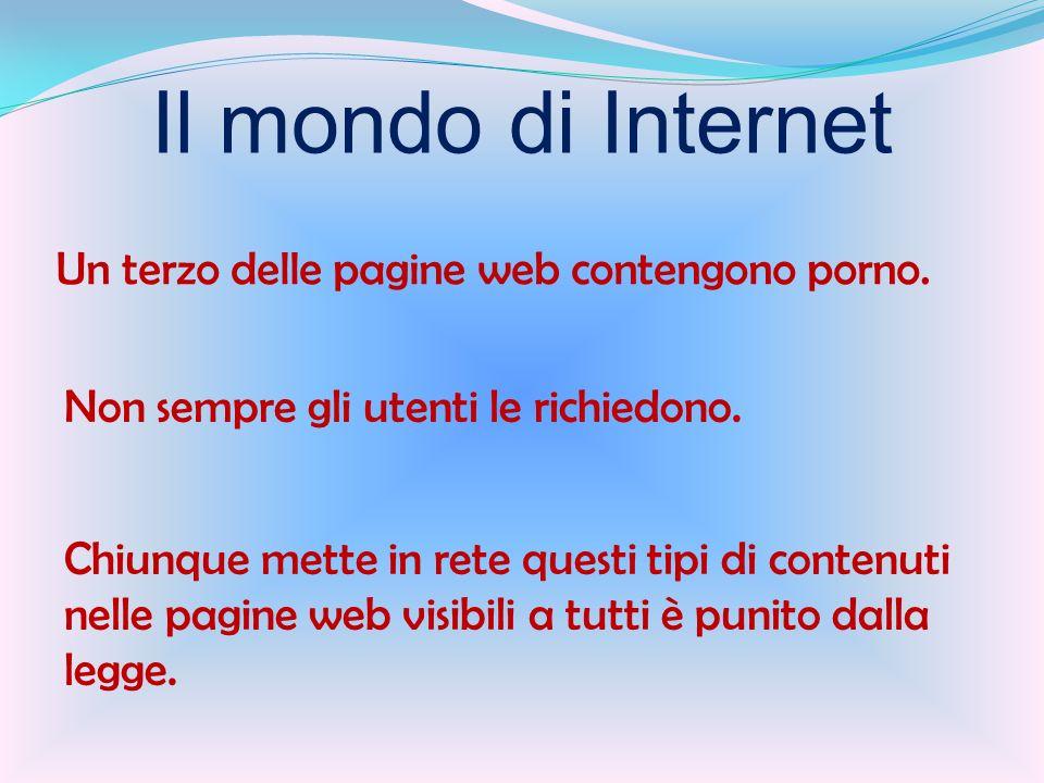 Chiunque mette in rete questi tipi di contenuti nelle pagine web visibili a tutti è punito dalla legge.