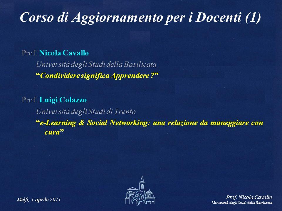 Melfi, 1 aprile 2011 Prof.