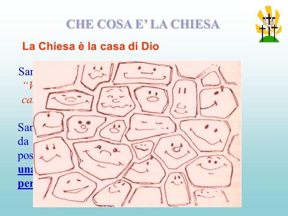La Chiesa é quindi sacramento di Gesù nel senso che Lo rappresenta ed é Gesù stesso.