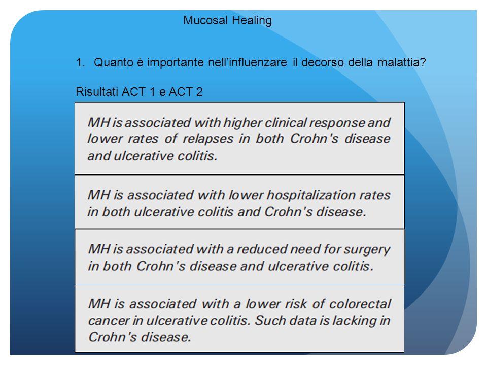 Mucosal Healing 1.Quanto è importante nellinfluenzare il decorso della malattia? Risultati ACT 1 e ACT 2
