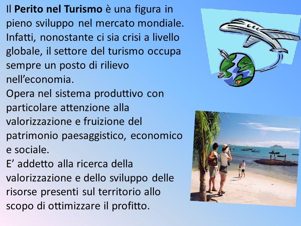 Il Perito nel Turismo è una figura in pieno sviluppo nel mercato mondiale.